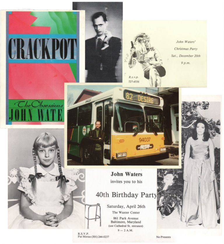 [Collection of Invitations and Signed Christmas Cards]. John WATERS.