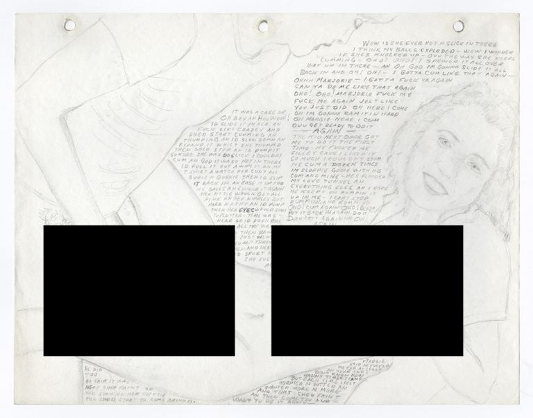 [Archive of Traced and Collaged Pornographic Pencil Sketches and Drawings Detailing One Man's Sexual History and Fantasies]. Sexuality, Name Withheld.