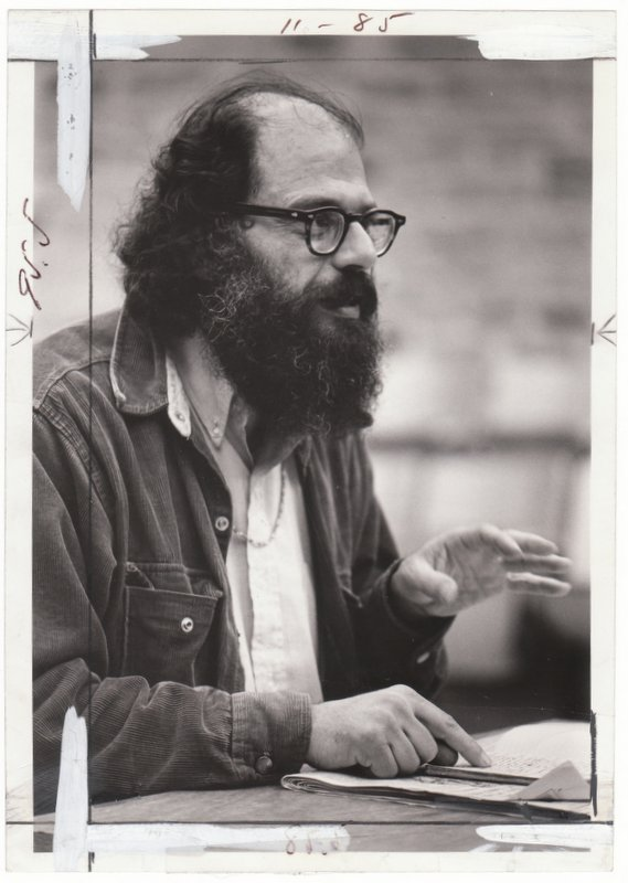 [Original 1969 Press Photo of Allen Ginsberg]. Allen - Subject GINSBERG, Ellis J. MALASHUK, Photographer.