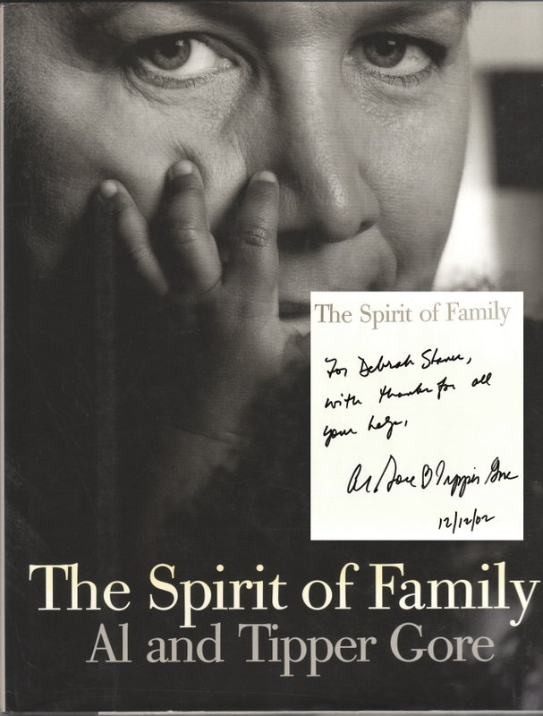 THE SPIRIT OF THE FAMILY. With Gail Buckland, Katy Homans, Al GORE, Tipper.