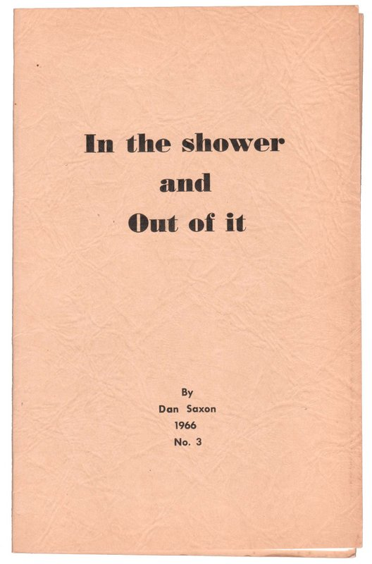 IN THE SHOWER AND OUT OF IT. Dan SAXON.