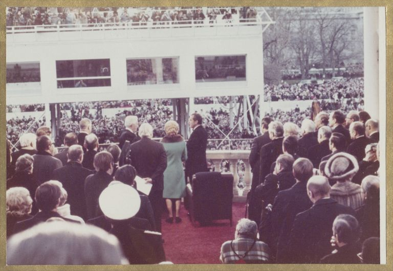 1973 PRESIDENTIAL INAUGURATION [Cover Title]. Photography, Presidential Elections.