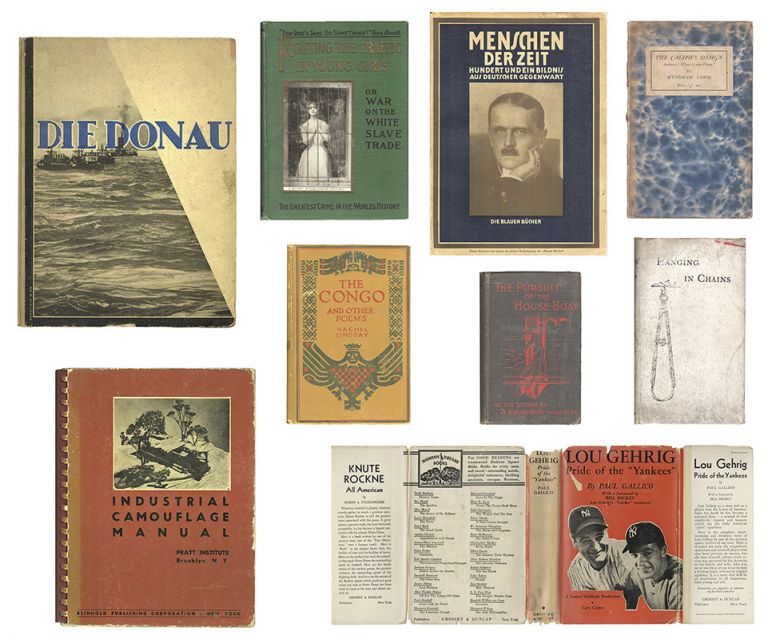 [Collection of 12 Original Books Utilized by R.B. Kitaj for His Series IN OUR TIME: COVERS FOR A SMALL LIBRARY AFTER THE LIFE FOR THE MOST PART]. R. B. KITAJ.