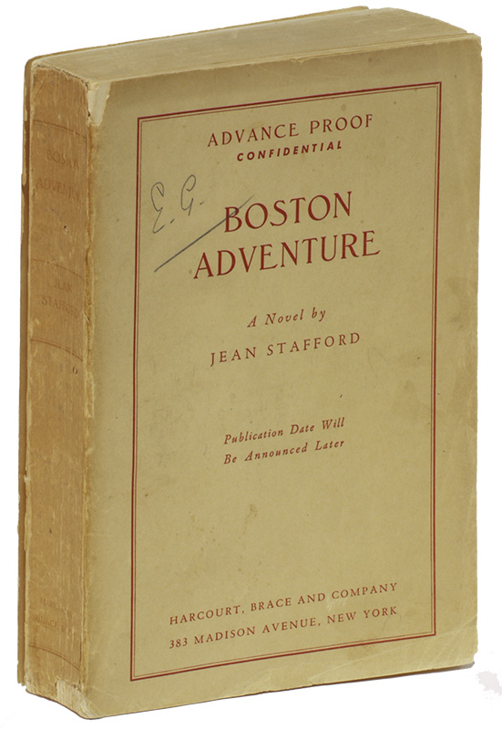 BOSTON ADVENTURE. Jean STAFFORD.