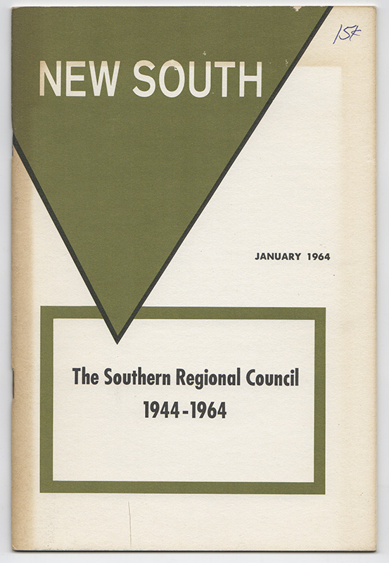 NEW SOUTH: Volume 19, Number 1; January 1964 [The Southern Regional Council: 1944-1964]. Southern Regional Council.