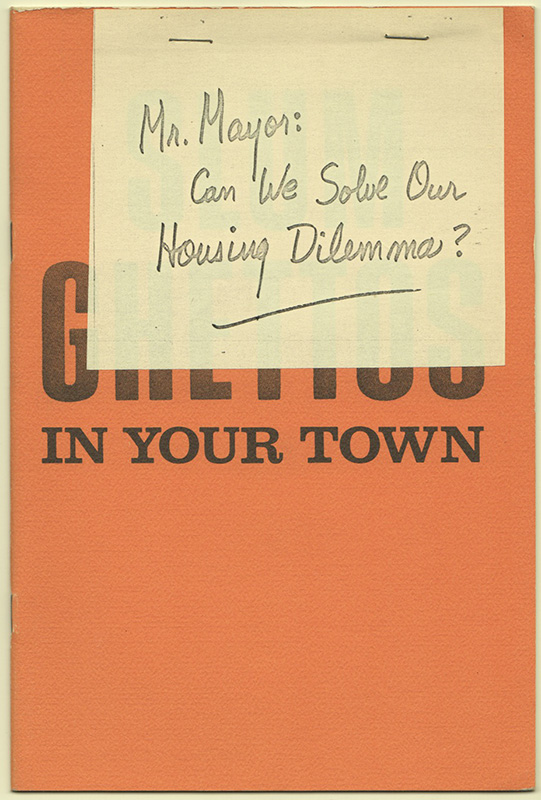 GHETTOS IN YOUR TOWN. John A. BROWN, C. Bron CLEVELAND.