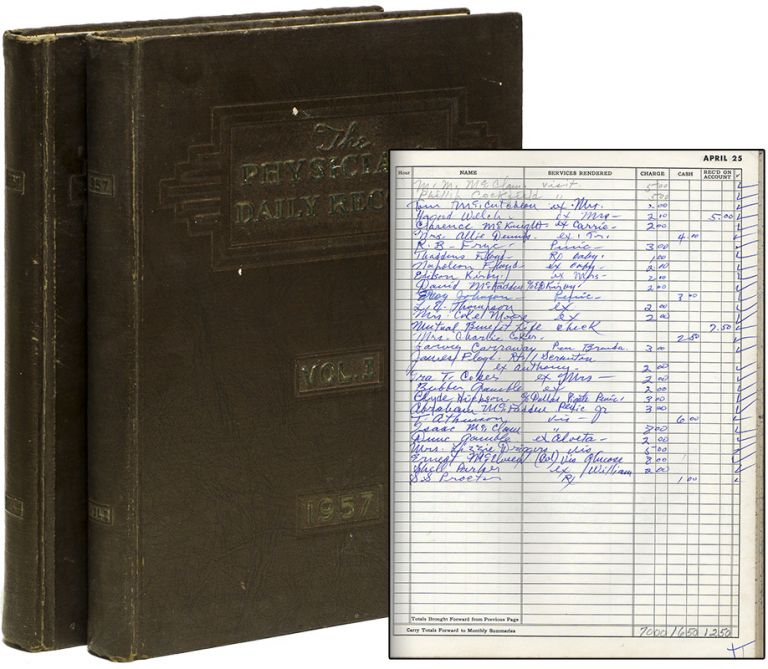 [Two-Volume Patient Ledger of a General Physician's Office]. Medicine, Dr. John M. Thomason.