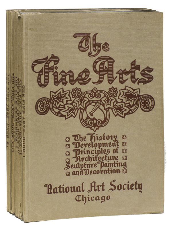 THE FINE ARTS: A University Course in Sculpture, Painting, Architecture, and Decoration; In Their History, Develpment and Principles [Complete in 12 Volumes; I-XII]. Edmund - BUCKLEY.