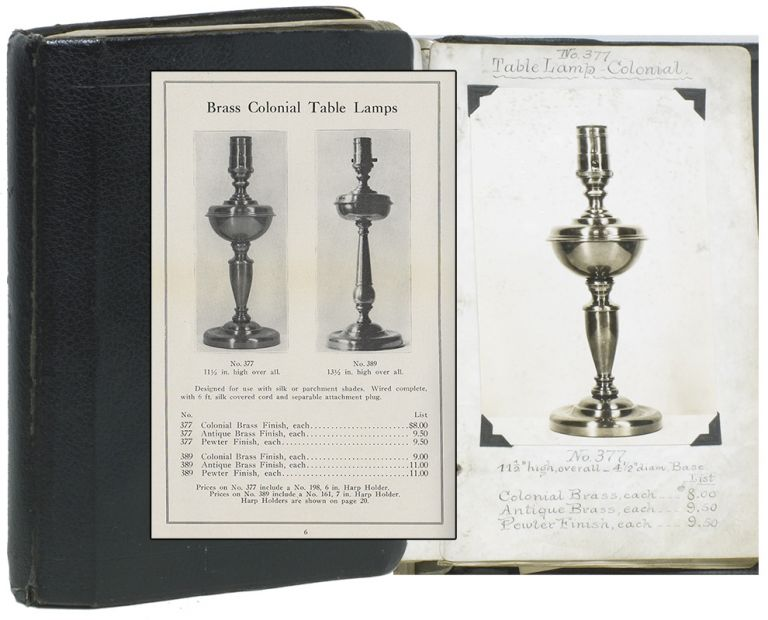 [Manuscript Photo Catalogue of Light Fixture Manufacturer]. Design, Lauritz W. . ANDERSEN, Electrical Lighting.