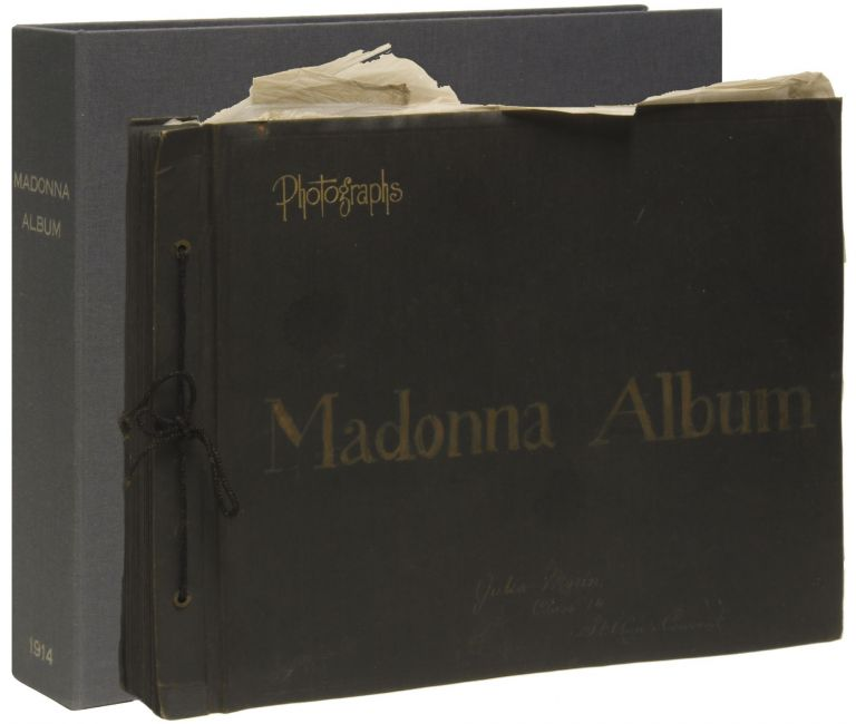 MADONNA ALBUM [Cover Title]. [Original Scrapbook Album]. Catholicism, Julia MORIN.