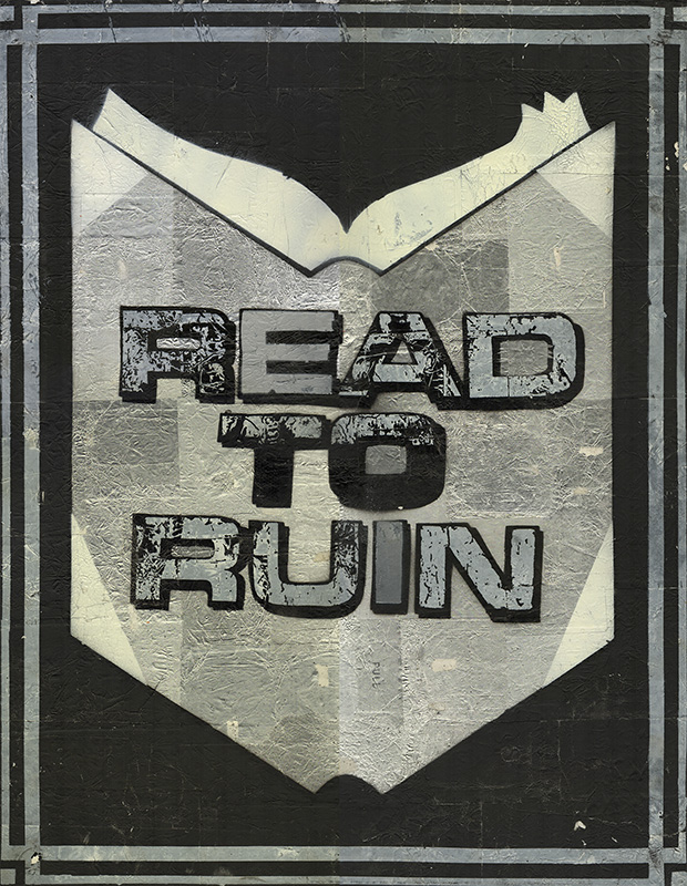"READ TO RUIN [Original Artwork]. "" a. k. a. ""Read More"" etc ""THE READER."