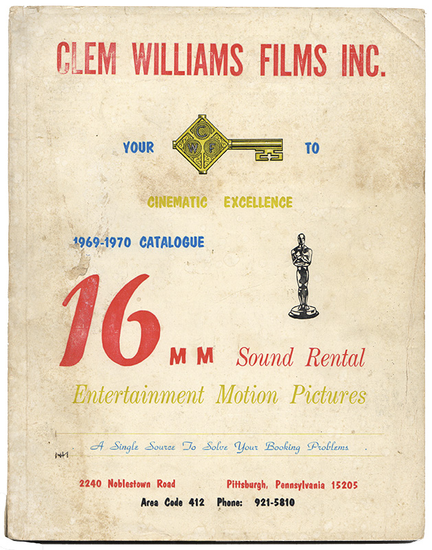 1969-1970 RENTAL CATALOGUE: 16mm Sound Recreational Motion Pictures [Cover Title]. Film.