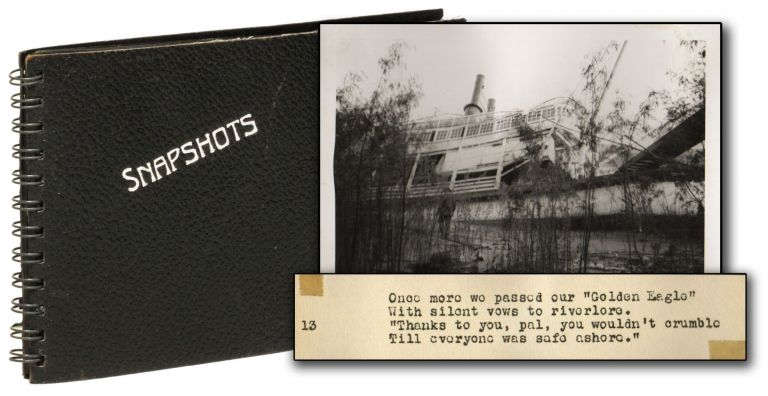 [Original Photograh Album of the Sinking of the Golden Eagle Steamboat]. Catastrophes, Photography.