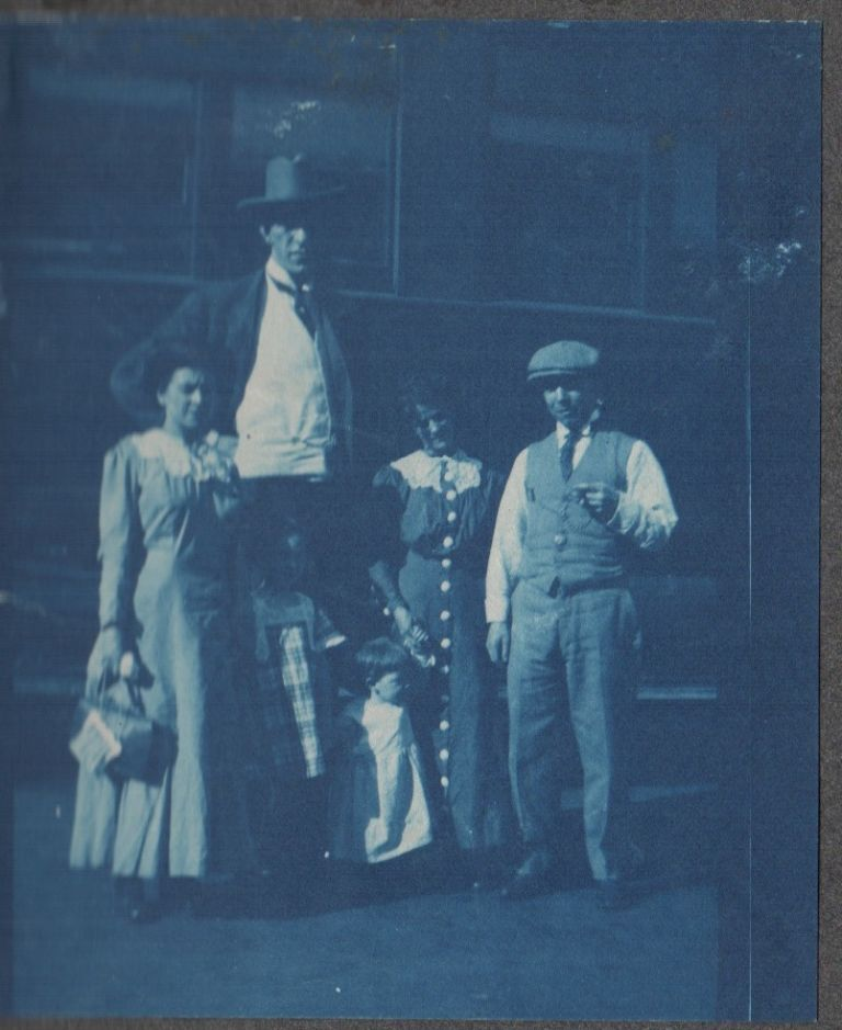 [Cyanotype Photograph Album of Orpheum Circuit Performers]. Photography, Vaudeville.
