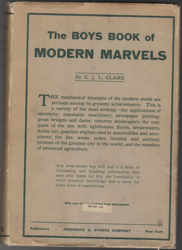 THE BOYS' BOOK OF MODERN MARVELS. C. J. L. CLARKE, Clark.