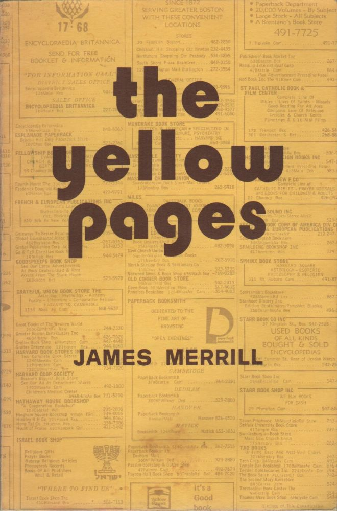 THE YELLOW PAGES: 59 Poems. James MERRILL.