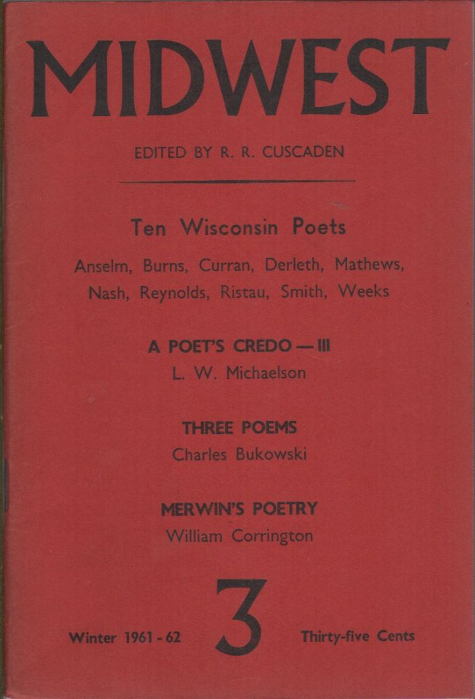 MIDWEST Number 3: Winter 1961-1962. R. R. CUSCADEN.