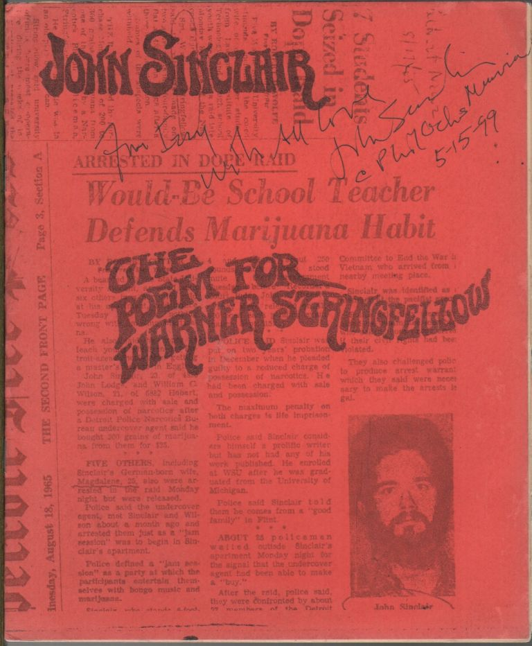 THE POEM FOR WARNER STRINGFELLOW. John SINCLAIR.