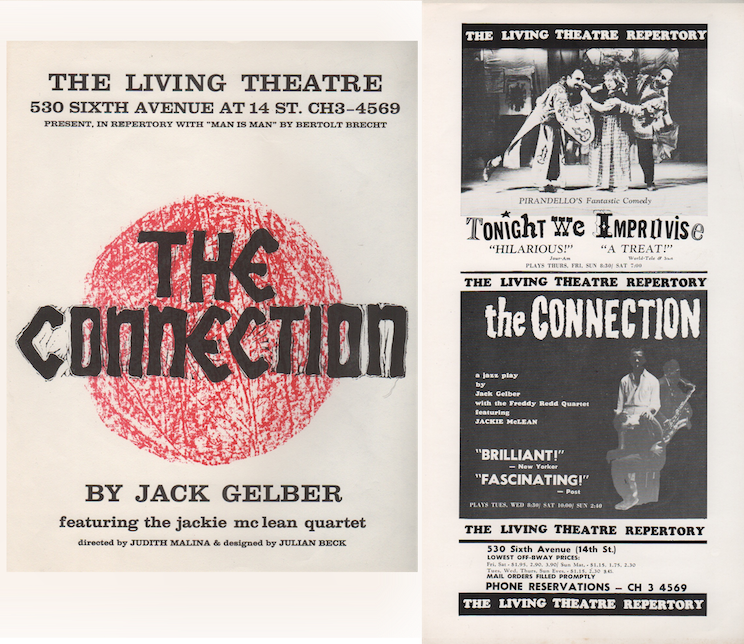 [Two Flyers for Original Living Theatre Production of THE CONNECTION]. The Living Theatre, Jack GELBER.