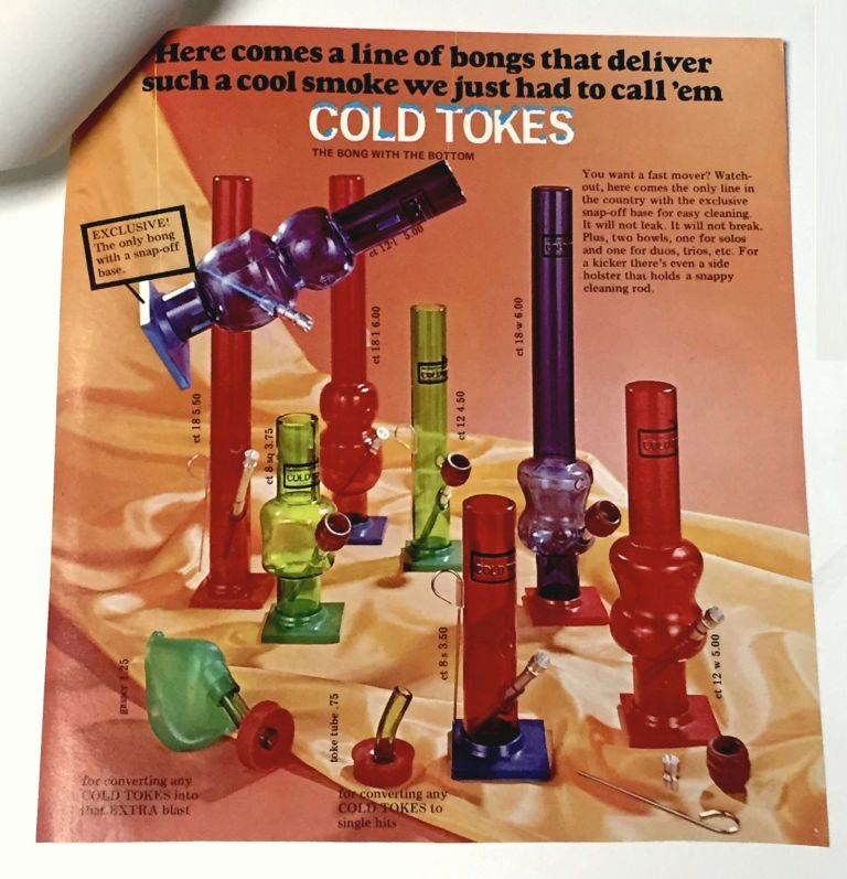 COLD TOKES [Cover Title] [Advertising Material for a line of Water Pipes]. Marijuana, The Bruce Miner Company.