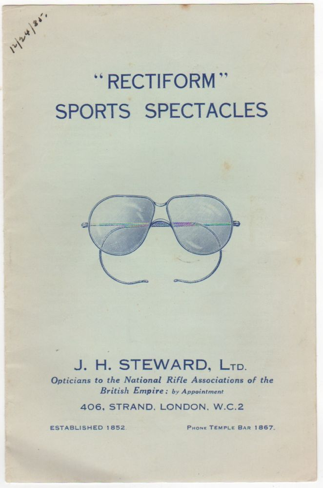"""Rectiform"" Sports Spectacles. Fashion, Ltd J H. Steward."