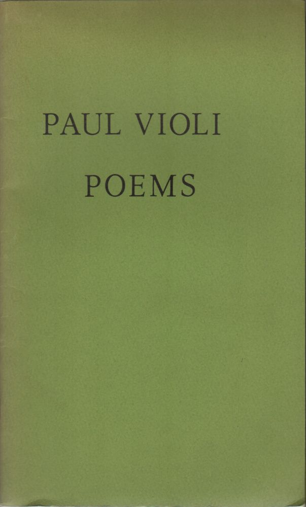 SOME POEMS. Paul VIOLI.