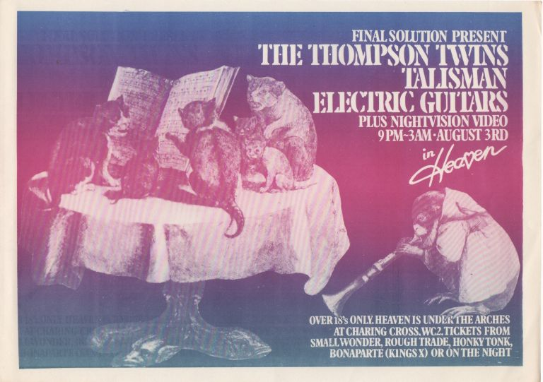 [Collection of Six Original Flyers for Shows Produced by...]. Music, New Wave, Final Solution.
