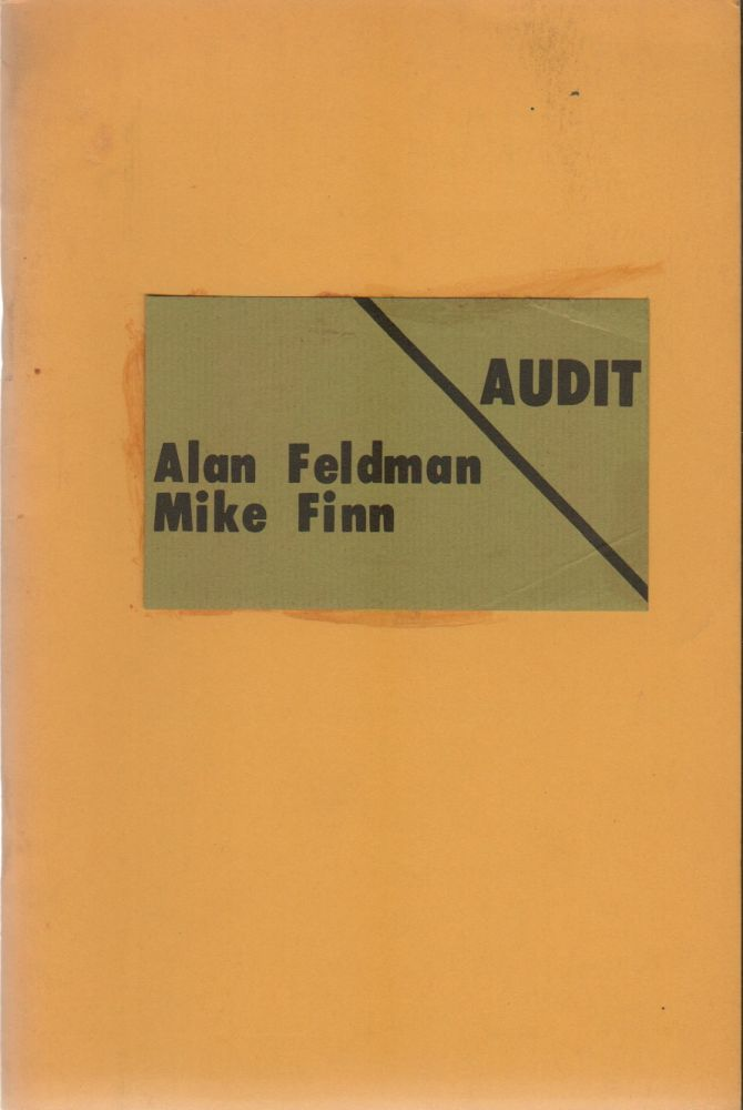 AUDIT-POETRY Vol. VI No. 1. Alan FELDMAN, Mike Finn, Mac Hammond, Wayne Andrew Howitt, Contributors.
