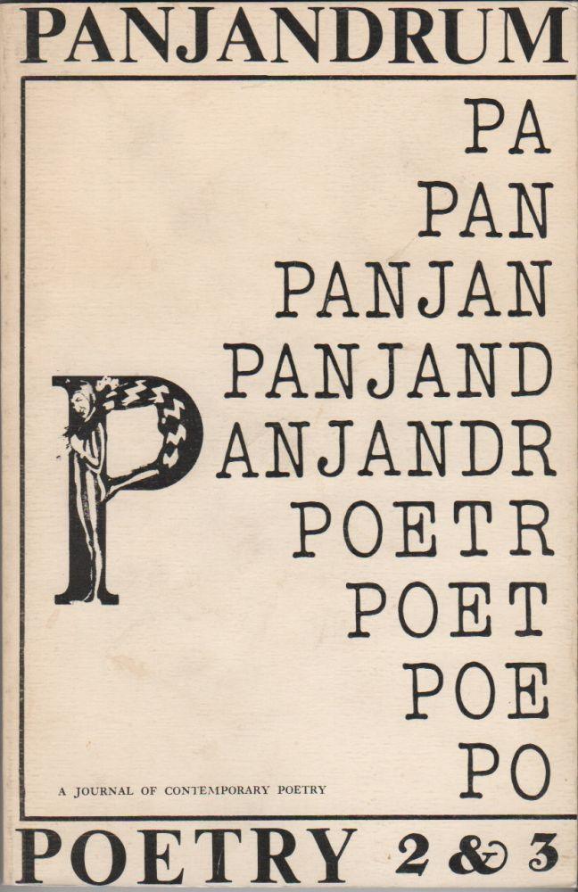 PANJANDRUM 2 & 3: A Double Issue - A Journal of Contemporary Poetry. Dennis KORAN.