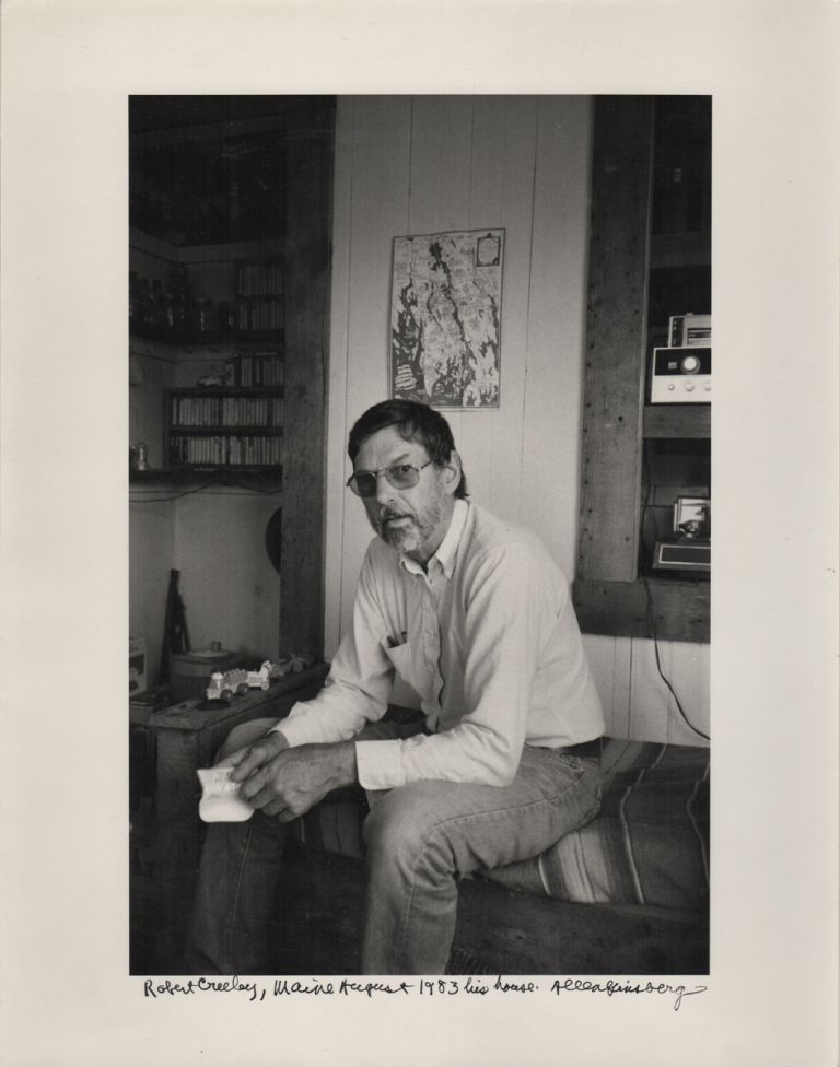 """Robert Creeley, Maine August 1983 his house."" [Caption Title, Original Photograph]. Allen GINSBERG, Photographer."