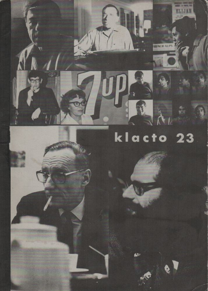 KLACTO/23 Special – September 1967 [KLACTOVEEDSEDSTEEN]. Carl WEISSNER, Allen Ginsberg William S. Burroughs, Wolf Vostell, Francois Dufrene, Dick Higgins, Diter Rot, Jeff Nuttall, Charles Bukowski, Klaus Staeck, Diane Di Prima, Henri Chopin, Gerard Malanga, contributors, Dieter Roth.
