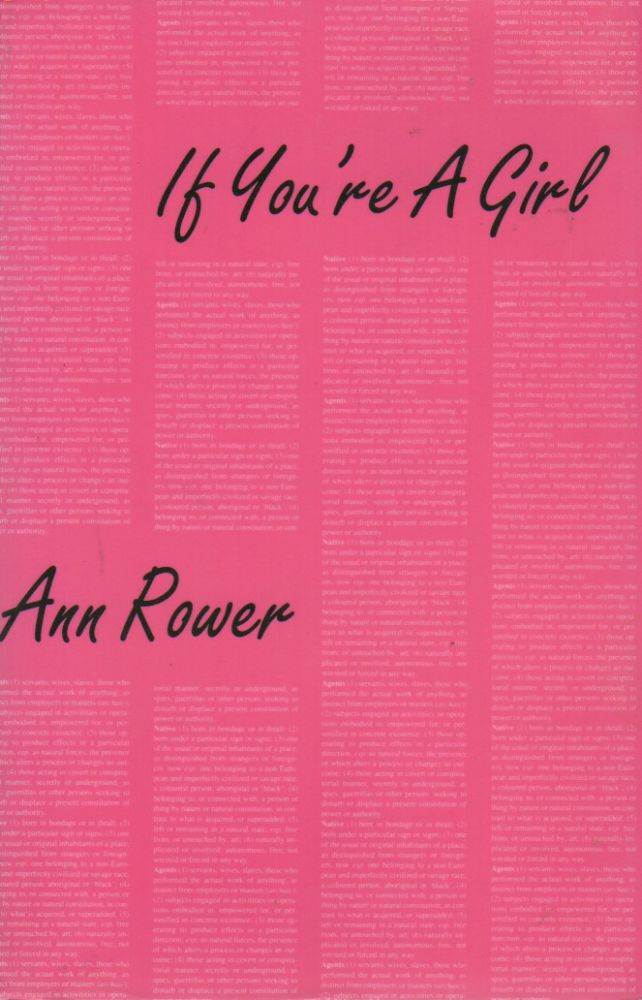 IF YOU'RE A GIRL. Anne ROWER.