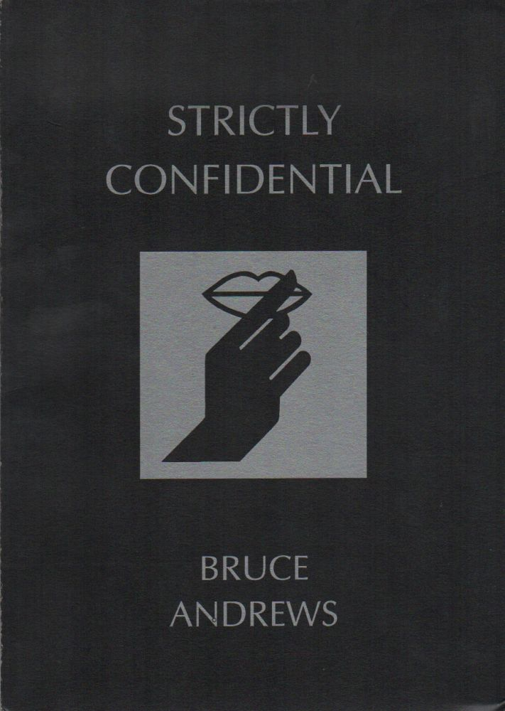 STRICTLY CONFIDENTIAL. Bruce ANDREWS.