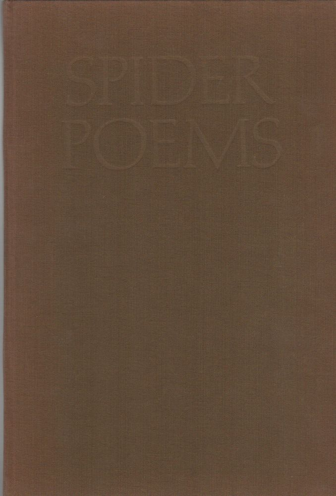 SPIDER POEMS. Walter HALL, Walter Hamady, Printer.