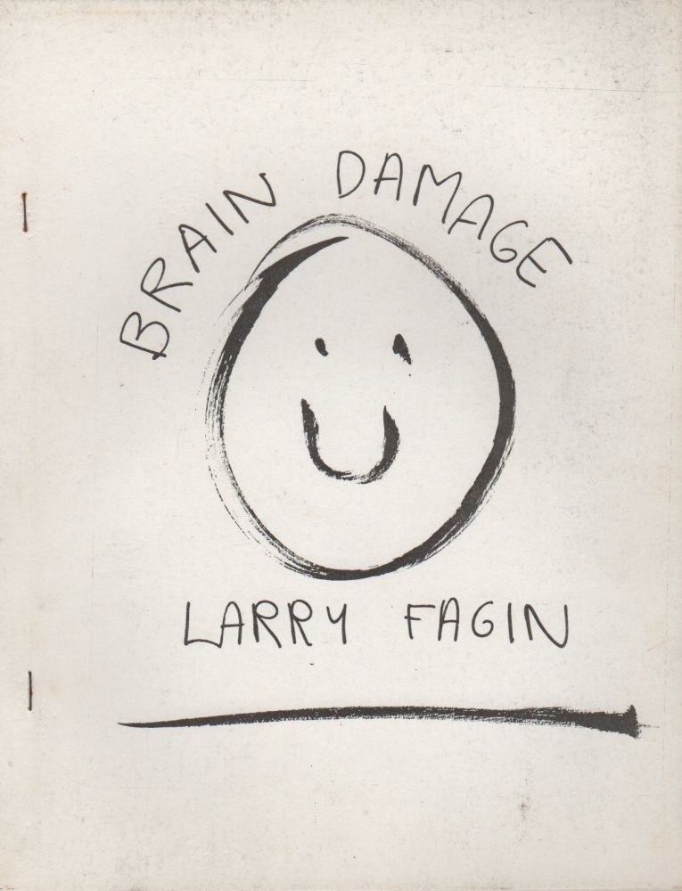 BRAIN DAMAGE. Larry FAGIN, Joe Brainard, Cover.