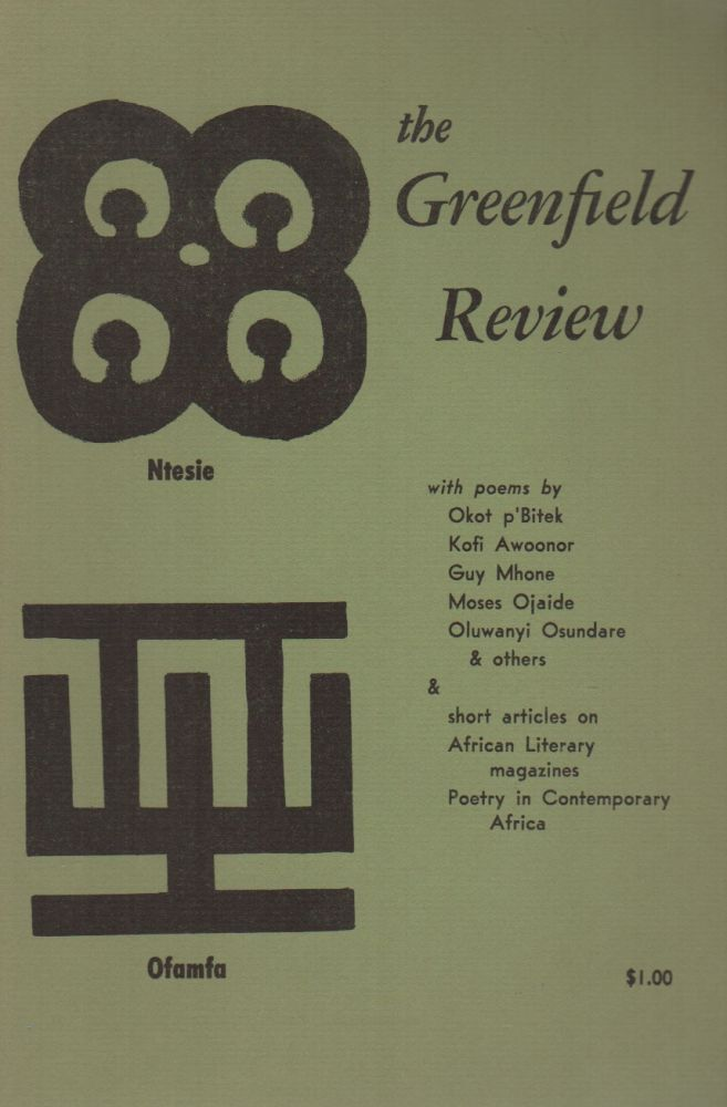 THE GREENFIELD REVIEW - Vol. 1 No. 4. Joseph III BRUCHAC.