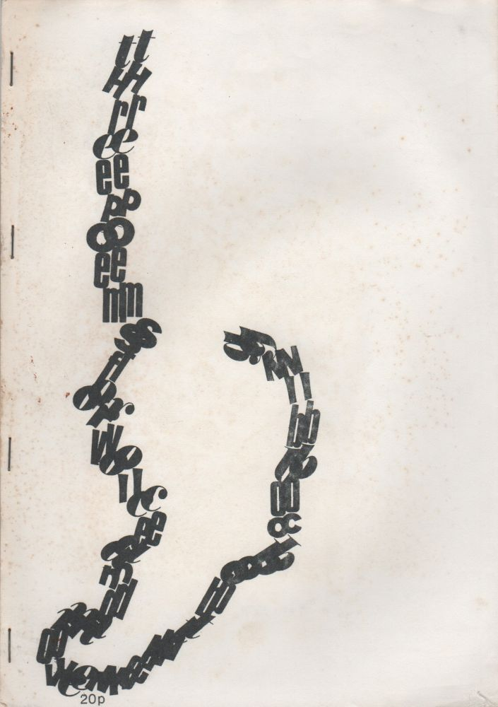 THREE POEMS FOR VOICE AND MOVEMENT (Writers Forum 'Fours' Number One). Bob COBBING.