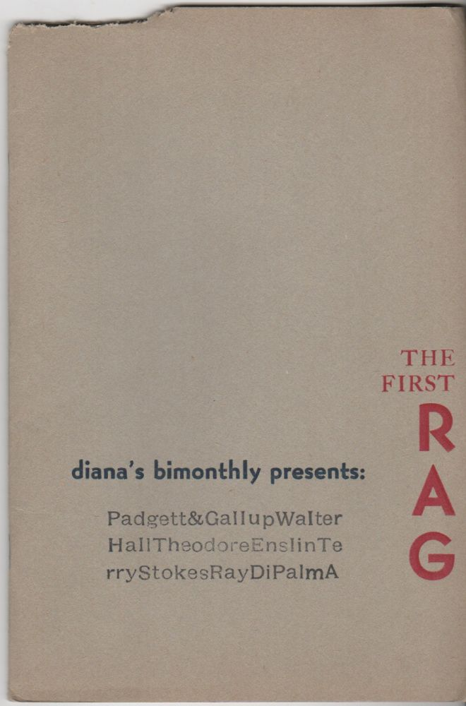 "DIANA'S BIMONTHLY - Vol. 1 No. 1 - Feburary 1972: ""The First Rag"" Tom AHERN."