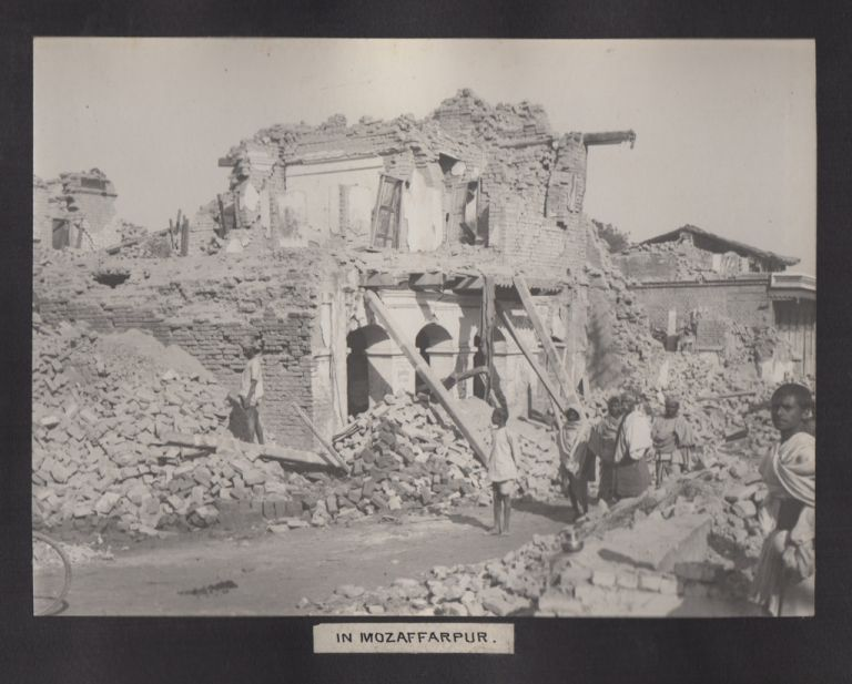 B & N.W. [Bengal & North Western] Railway: Views of the Great Behar Earthquake of 15th January 1934 [Photo Album]. Photography, Natural Disasters, Railroads.