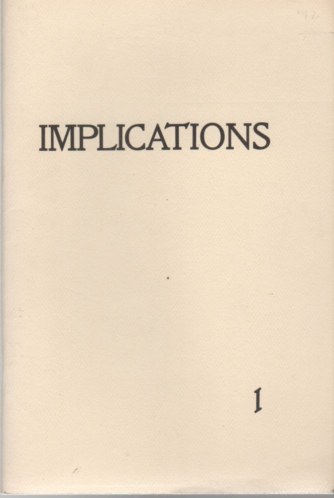 IMPLICATIONS 1. Isaac CRONIN, Chris Shutes.