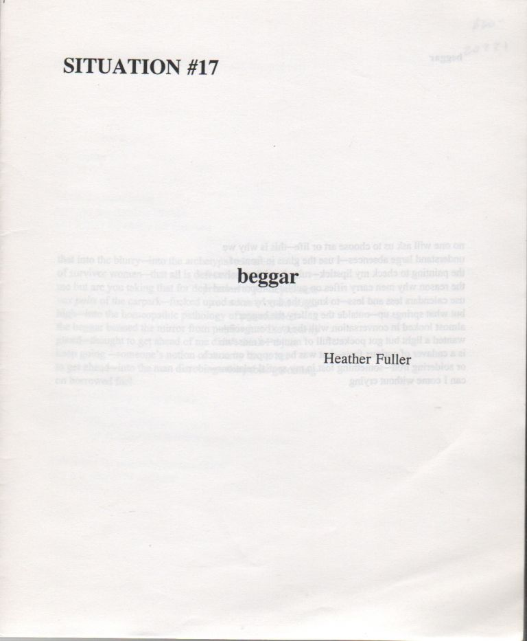 SITUATION #17: Beggar. Heather FULLER, Joanne Molina, Mark Wallace.