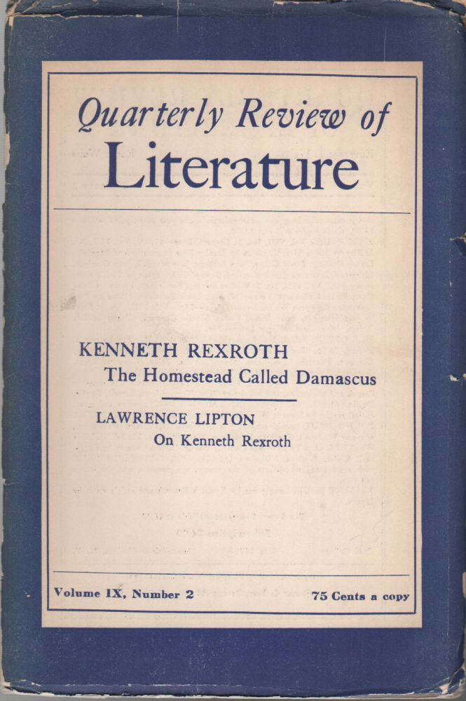 QUARTERLY REVIEW OF LITERATURE - Volume IX No. 2. Kenneth REXROTH, T., Renée Weiss.