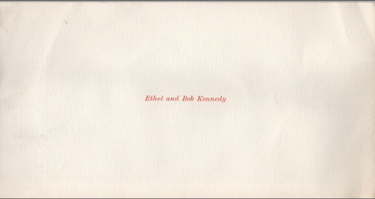 [Bobby Kennedy Family Christmas Card, ca. 1961]. Robert F. KENNEDY.