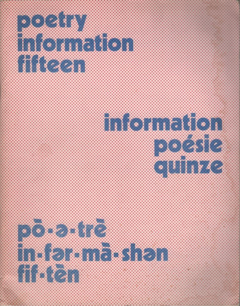 POETRY INFORMATION - Number 15 - Summer 1976. Peter HODGKISS.