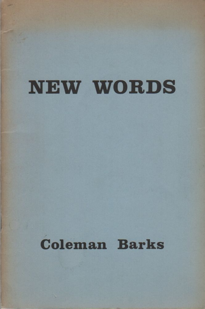 NEW WORDS. Coleman BARKS.