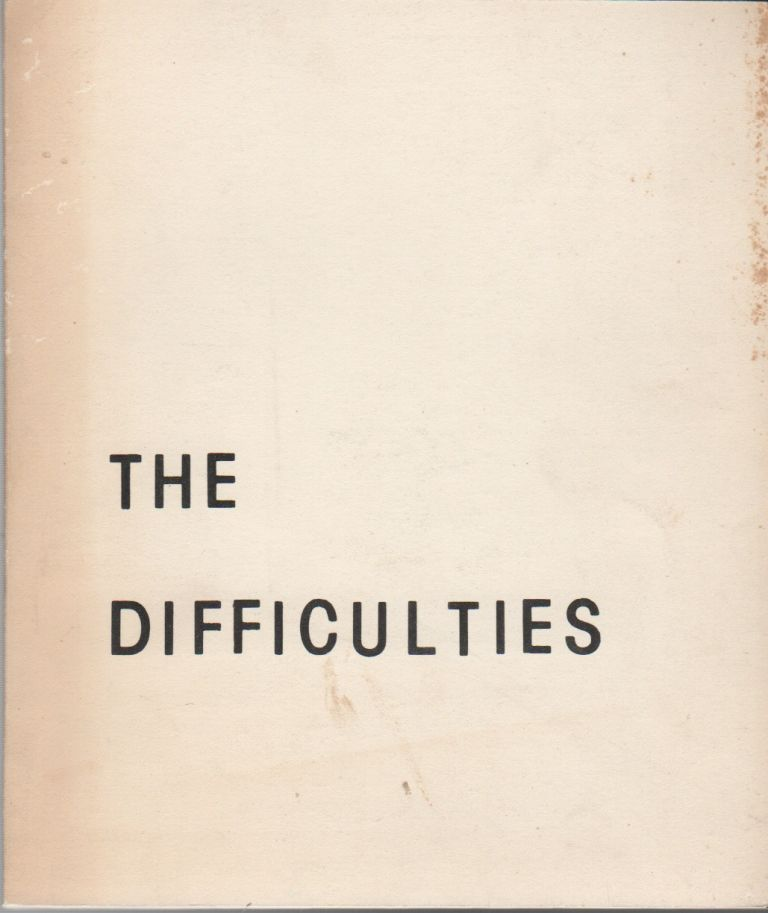 THE DIFFICULTIES - No. 1. Tom BECKETT, Earel Neikirk.