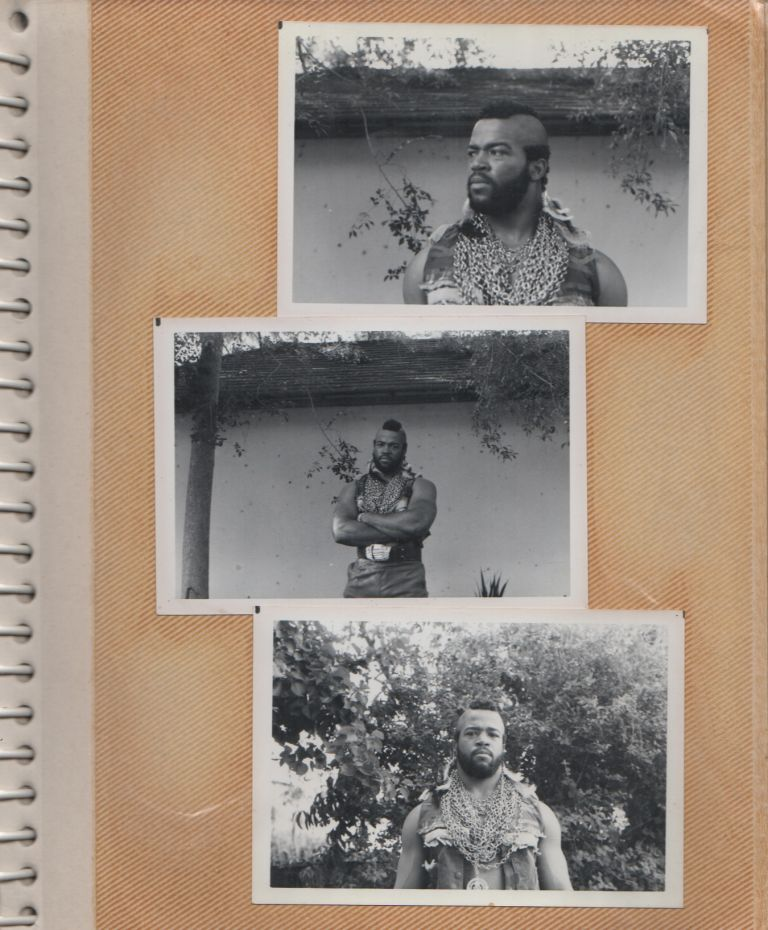 [Photo Album/Scrapbook of a Mr. T Impersonator]. Fandom, George R. . KING, Mr. T.
