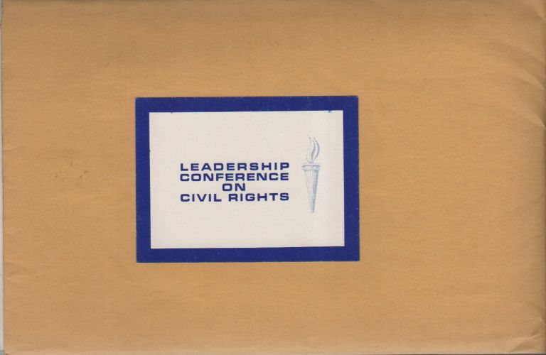 LEADERSHIP CONFERENCE ON CIVIL RIGHTS [Information Packet]. African-Americana, Civil Rights.