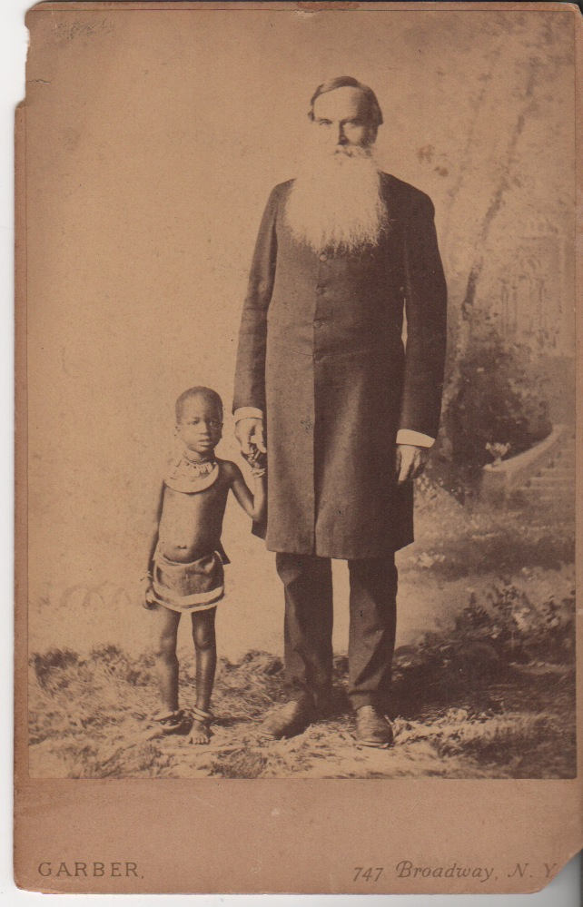 [Late 19th-Century Portrait of a White Man and Native African Child]. Davis GARBER, Photographer.