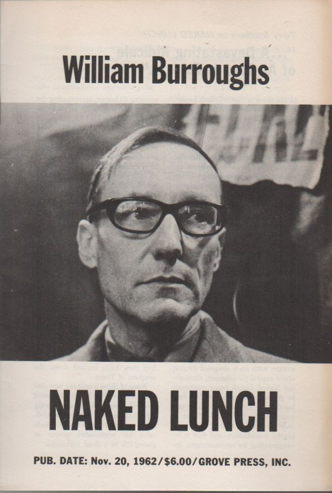 WILLIAM BURROUGHS / NAKED LUNCH / PUB. DATE: NOV. 20, 1962 [etc.] [Cover Title, Grove Press Promo Pamphlet for First American Edition of Naked Lunch]. William S. BURROUGHS.
